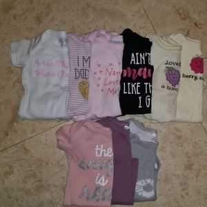 Baby Girl Short Sleeve Onesies